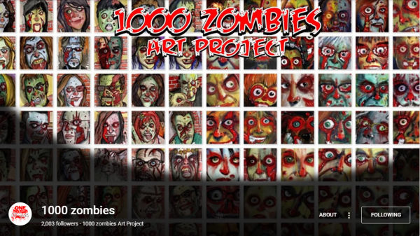 Family photos are different.. My kids are part of the +1000 Zombie Project on Google+ by the Canadian artist Byron 'von' Rempel...